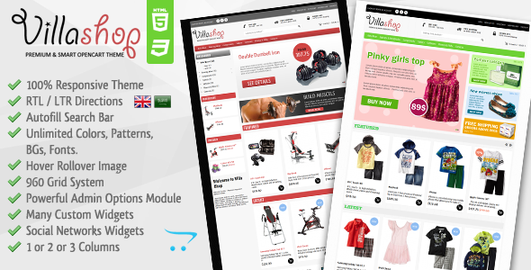 ThemeForest Villa Shop Premium Opencart Theme 4666217