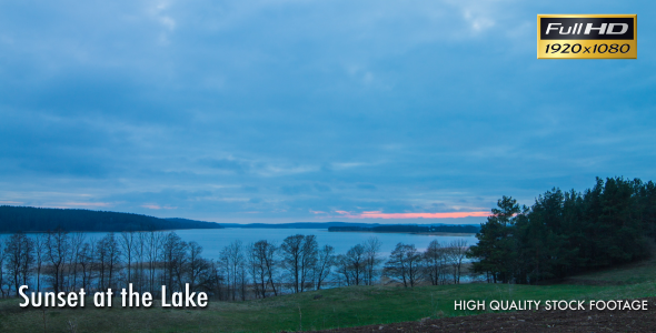 Sunset At the Lake Time Lapse