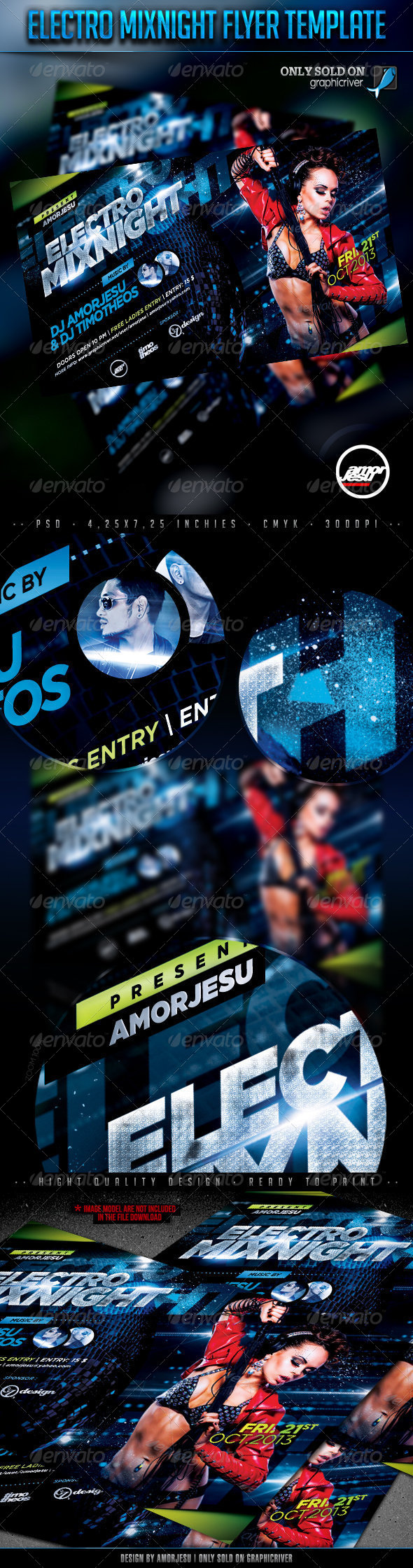 GraphicRiver Electro Mixnight Flyer Template 4666255