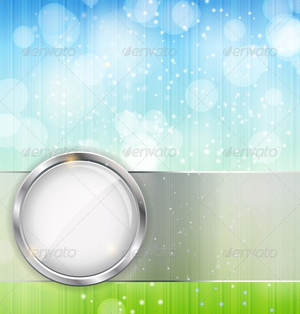 GraphicRiver Abstract Background with Leaves and Glass Frame 4666275
