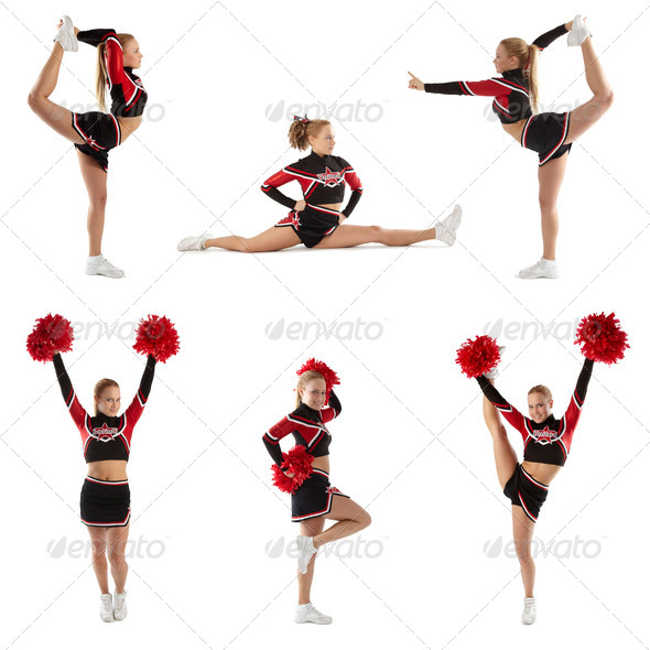Stock Photo - PhotoDune Cheerleading pose 488168