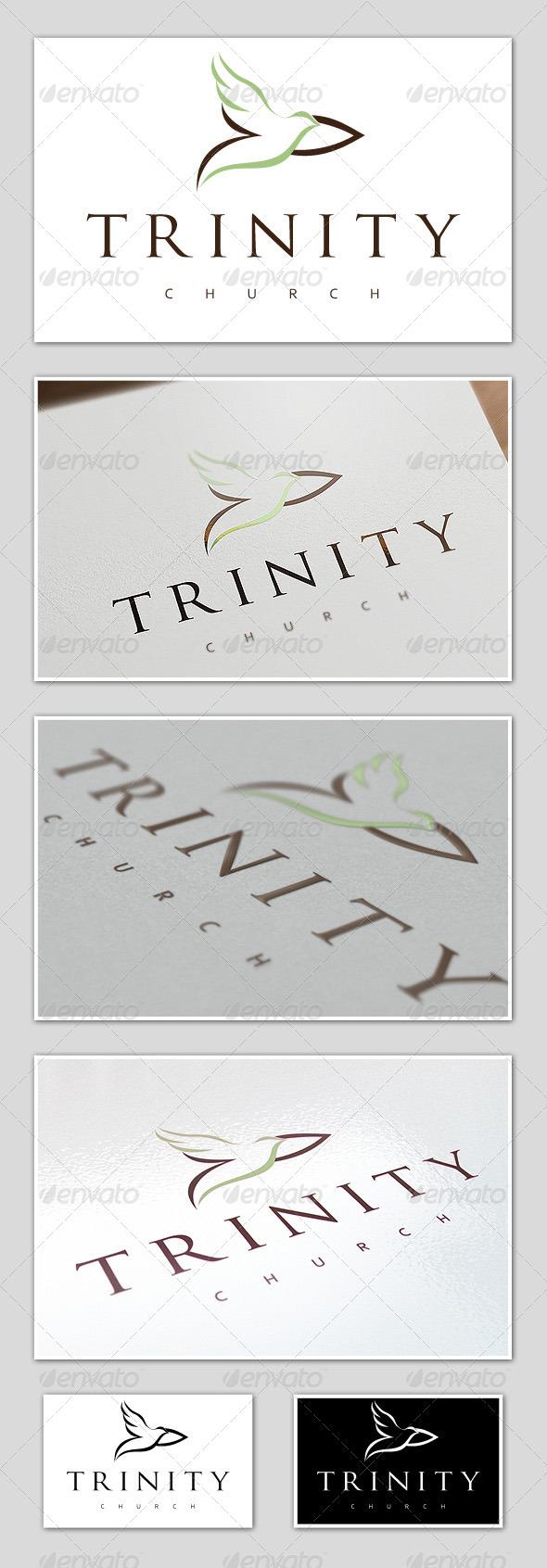 GraphicRiver Trinity Church Logo Template 4666433