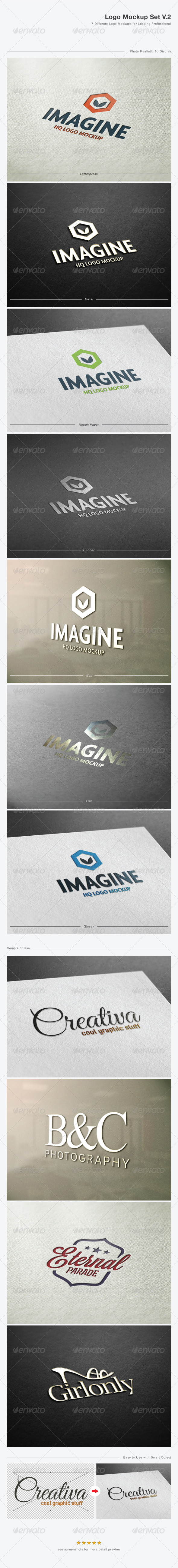 Logo Mock-Up Set V.2 - Logo Product Mock-Ups