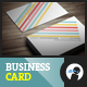 Color Stripes Minimal - Business Card - GraphicRiver Item for Sale