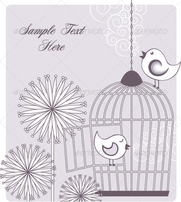 GraphicRiver Birds and Birdcage 4653520
