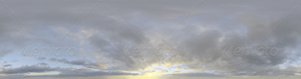 Skydome HDRI - Sunset Clouds II - 3DOcean Item for Sale