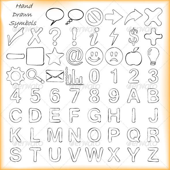 GraphicRiver Hand Drawn Decorative Symbols 4667025