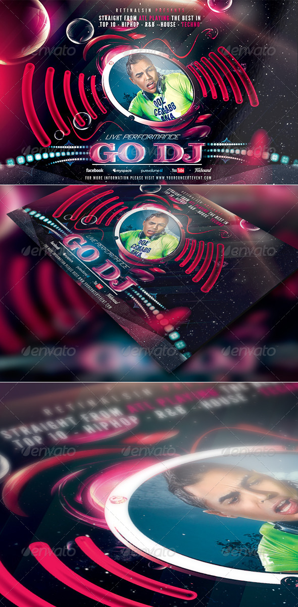 GraphicRiver Go Dj High Quality Flyer Template 4667069