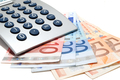 Calculator on the euro banknotes - PhotoDune Item for Sale