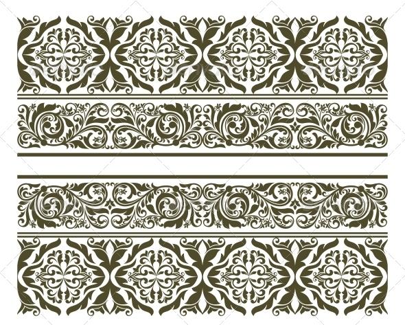 GraphicRiver Retro Ornament in Floral Style 4667217