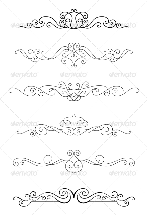 GraphicRiver Borders and Dividers 4667239