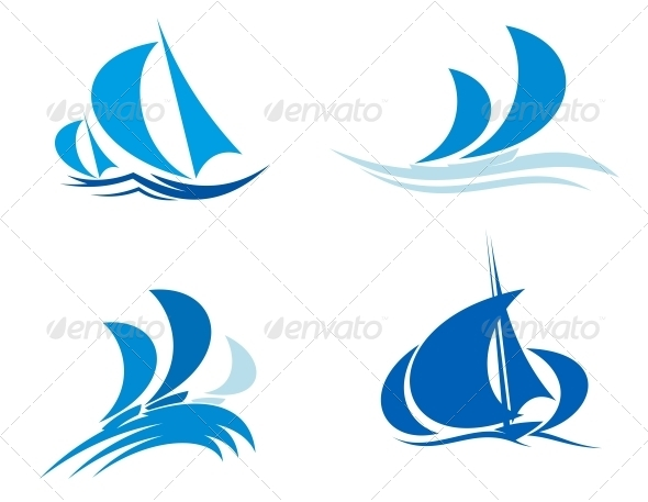 GraphicRiver Yachts and Boats on Regatta 4667251