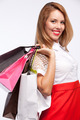 Shopping woman holding bags - PhotoDune Item for Sale
