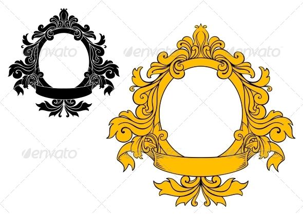 GraphicRiver Medieval Floral Frame 4667407
