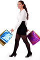 Full length shot of young woman holding shopping bag - PhotoDune Item for Sale