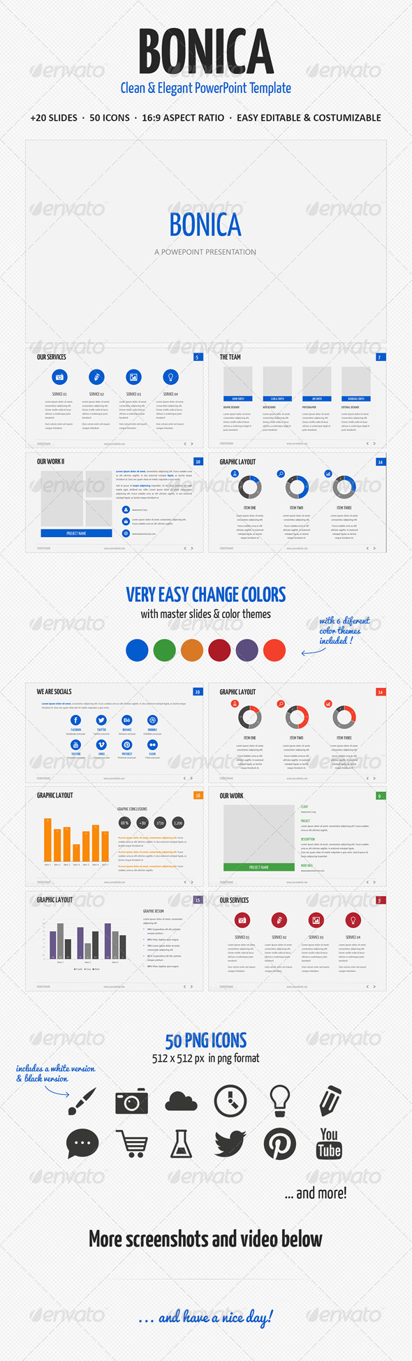 GraphicRiver Bonica Powerpoint Template 4592658