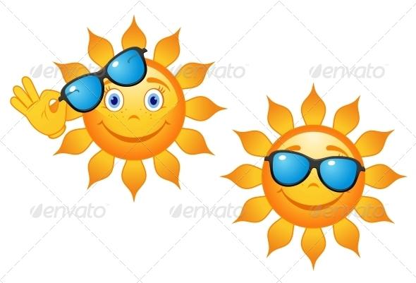 GraphicRiver Funny Sun in Sunglasses 4667702