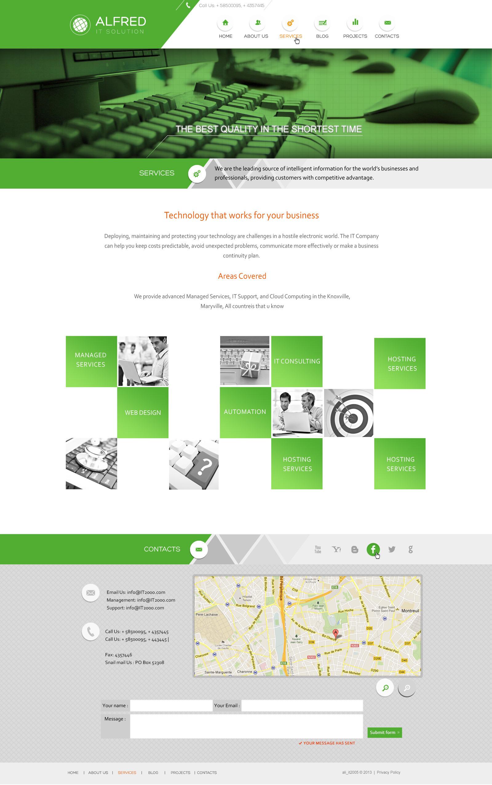 Web Design Company -Creative PSD