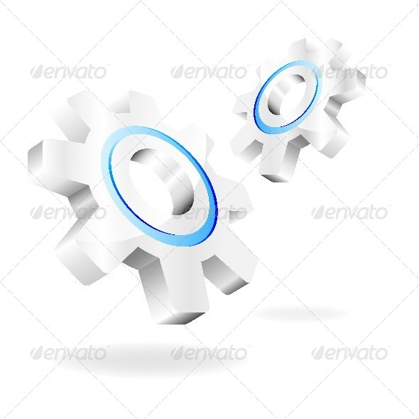 GraphicRiver Vector Gears on a White Background 4668278