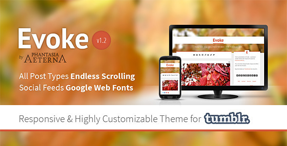 Evoke - Responsive Tumblr Theme - Blog Tumblr