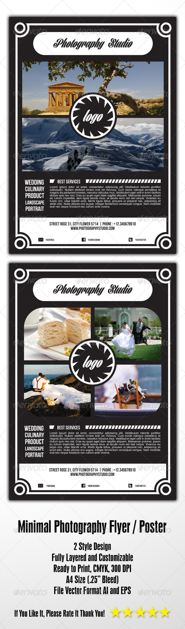 GraphicRiver Minimal Photography Flyer 4668534