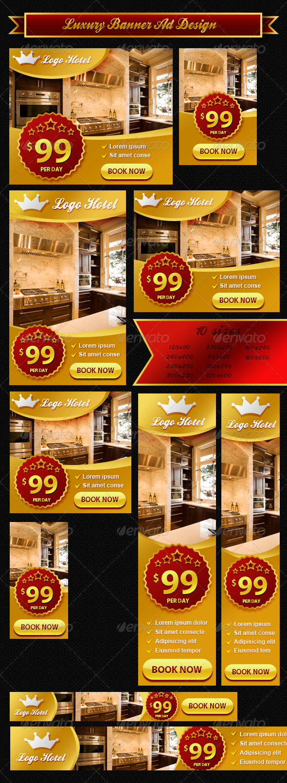 GraphicRiver Luxury Banner ad Design 4668568