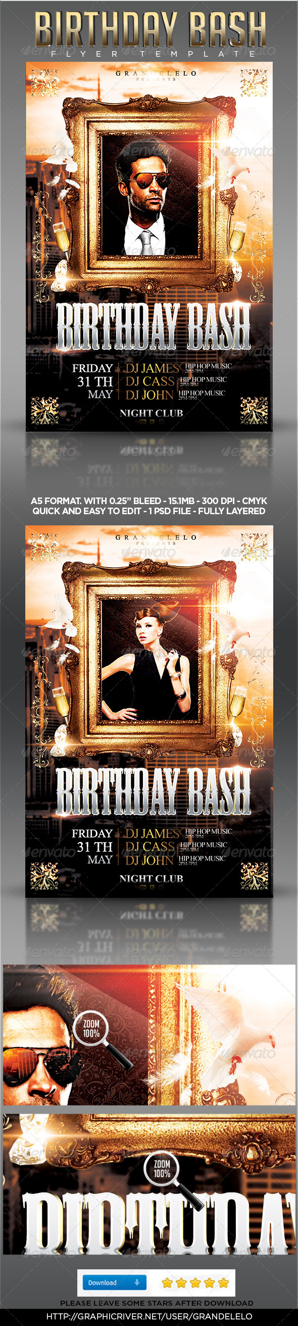 GraphicRiver Birthday Bash Flyer Template 4668739