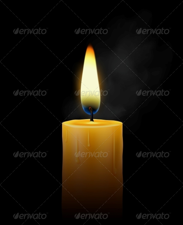 GraphicRiver Burning Candle 4668770