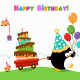 Penguin Delivering Birthday Cake - GraphicRiver Item for Sale