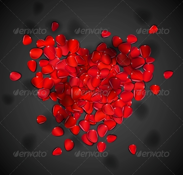 GraphicRiver Heart of Rose Petals 4668798