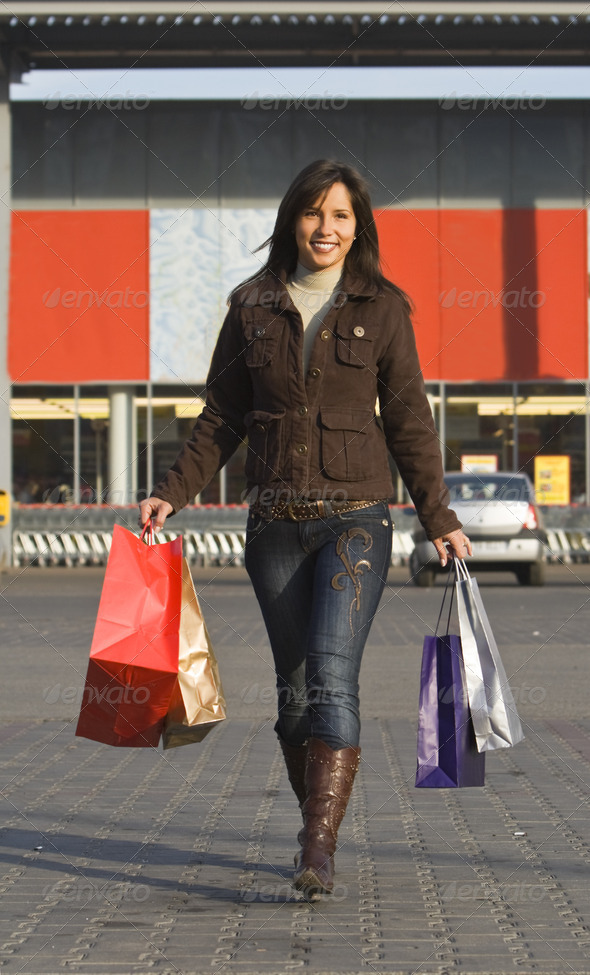 Woman Shopping - Stock Photo - Images