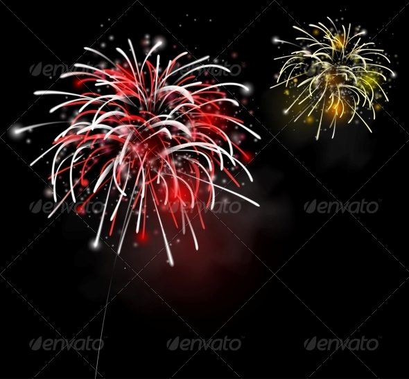 GraphicRiver Fireworks in the Night Sky 4668803