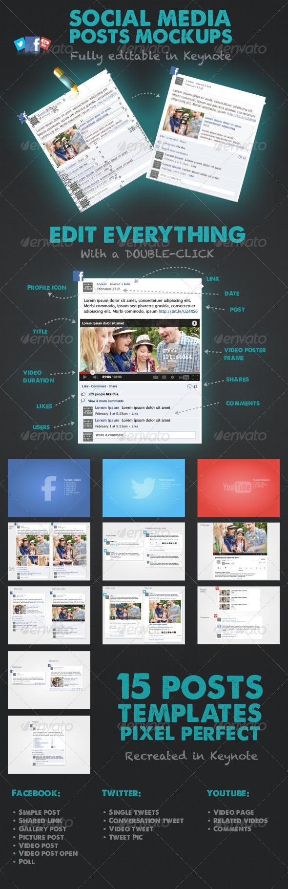 GraphicRiver 15 Social Media Posts Editable Mockups 4577580