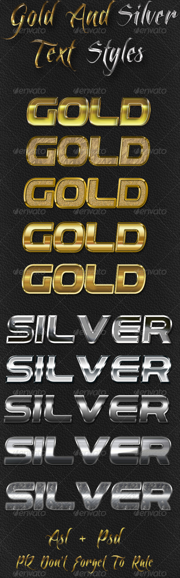 GraphicRiver Gold And Silver Text Styles 4669019