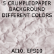 5 Crumpled Paper Backgrounds - GraphicRiver Item for Sale