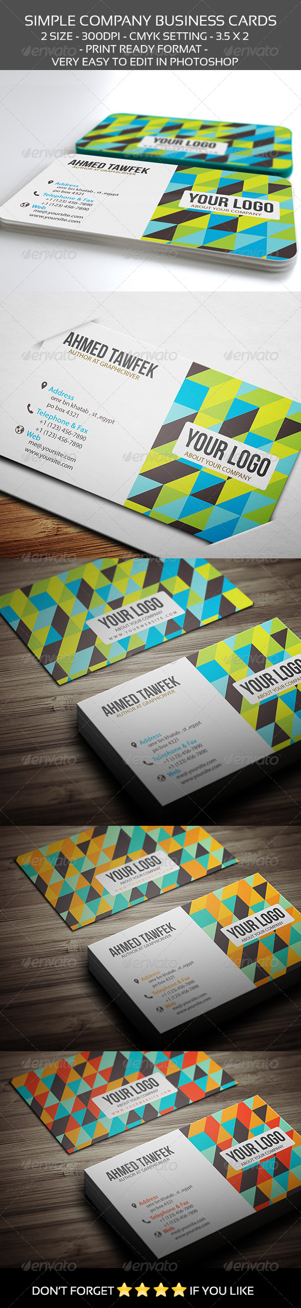 Simple Company Business Cards