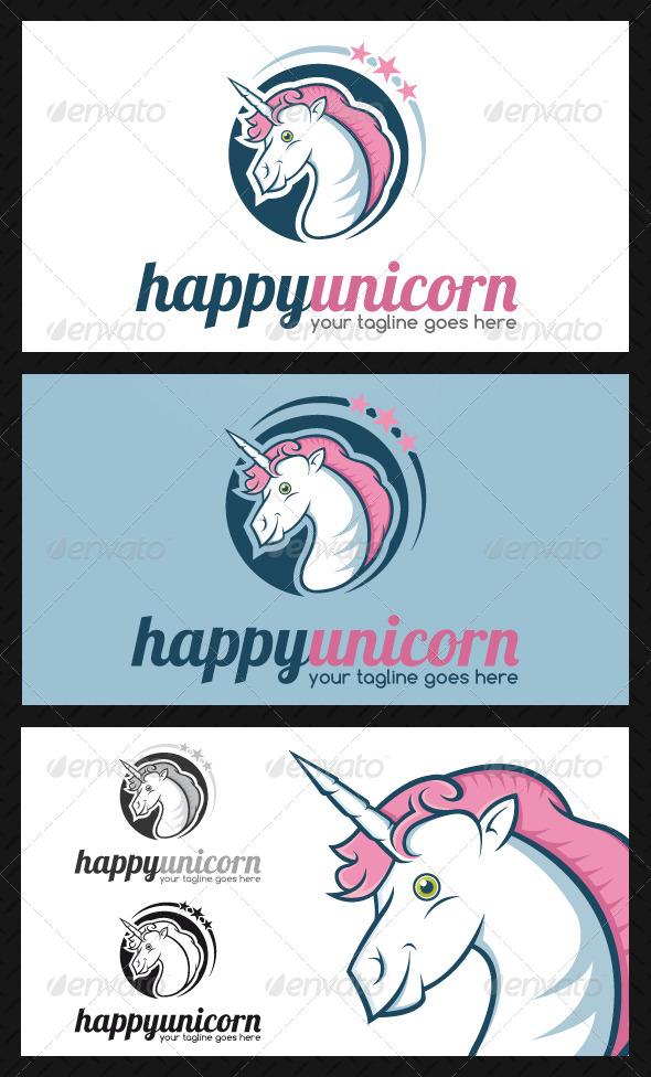 GraphicRiver Unicorn Logo Template 4669549