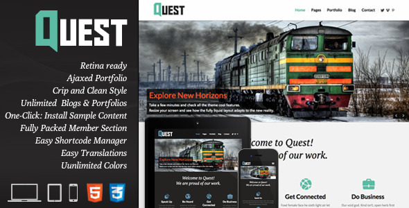 ThemeForest Quest All Purpose Wordpress Theme 4649777