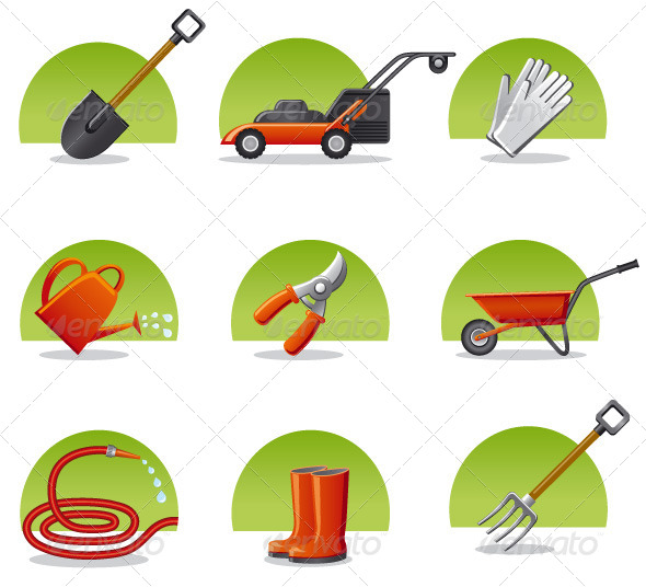 GraphicRiver Garden Tools Icon Set 4645273