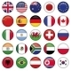 Set of Round Flags World Top States - GraphicRiver Item for Sale