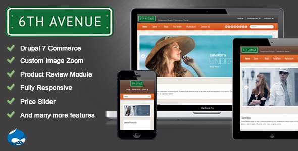 6th Avenue - Responsive Drupal 7 Commerce Theme