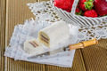 Roll of fresh cheese with white chocolate - PhotoDune Item for Sale