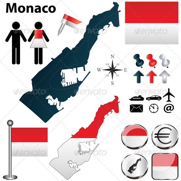 GraphicRiver Map of Monaco 4670323