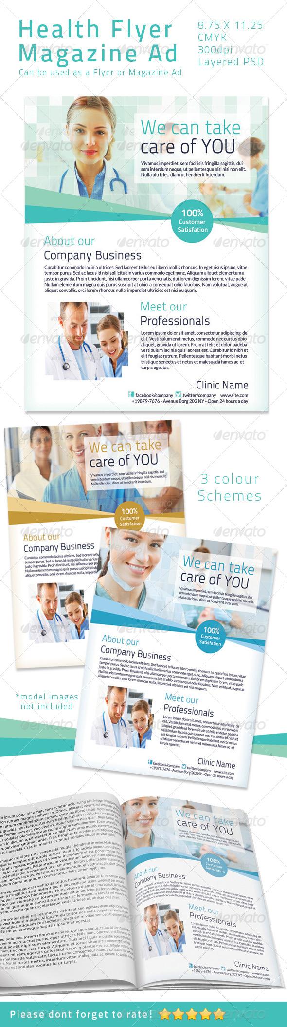 GraphicRiver Health Flyer Magazine Ad 4670360