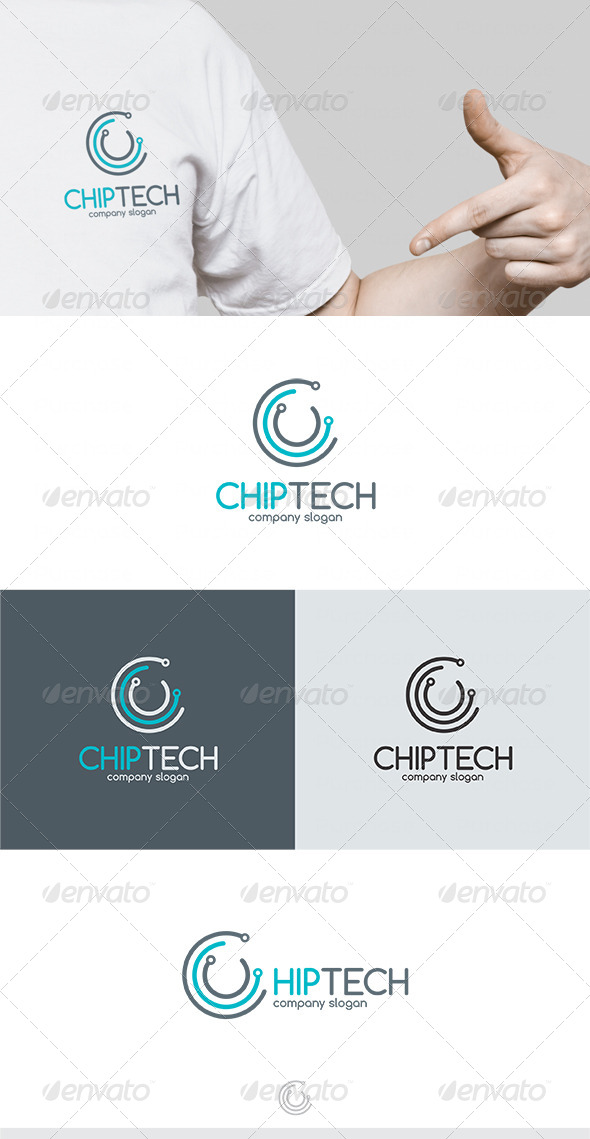 GraphicRiver Chip Tech Logo 4670585