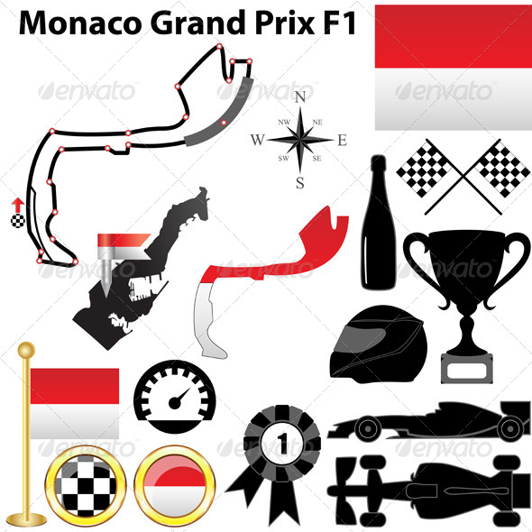 GraphicRiver Monaco Grand Prix F1 4670592
