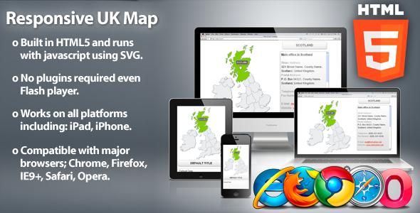 Responsive UK Map - HTML5