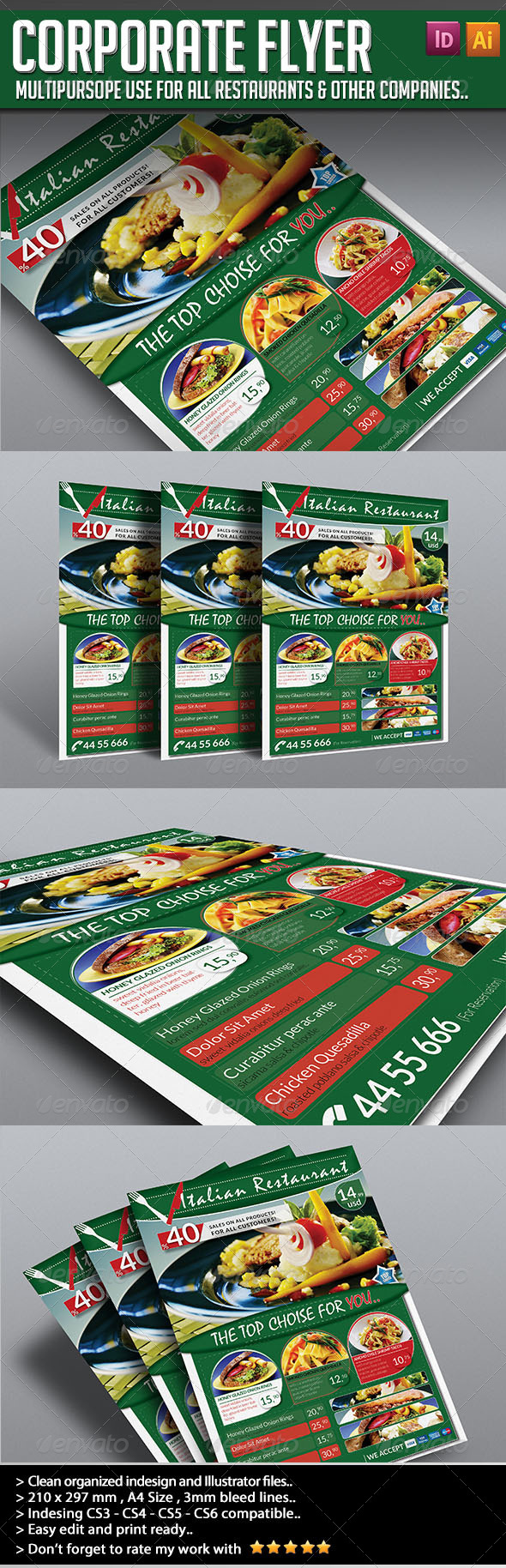 GraphicRiver Corporate Flyer Elegant Restaurant 4567435