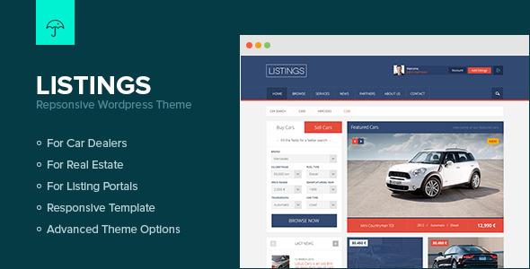 ThemeForest Listings WordPress Responsive Listings Theme 4644718