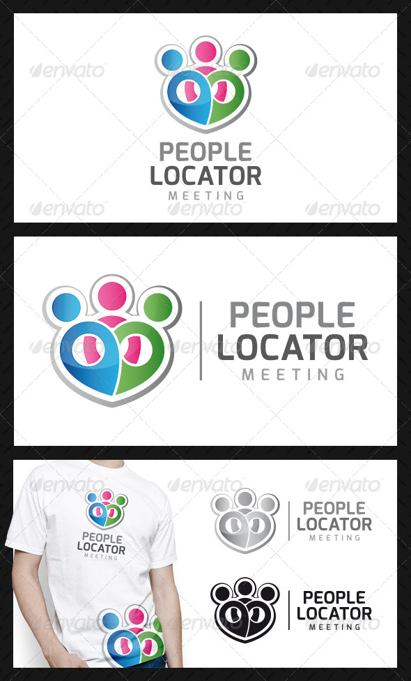 GraphicRiver People Locator Logo Template 4671812